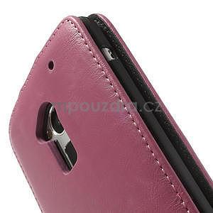 Flipové pouzdro HTC one Max- růžové - 6