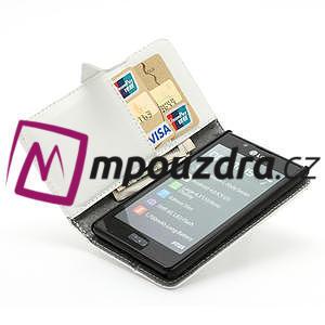 Peněženkové pouzdro na LG Optimus L7 P700 - bílé - 6