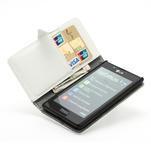 Peněženkové pouzdro na LG Optimus L7 P700 - bílé - 6/7