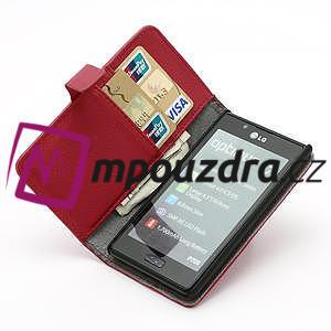 Peněženkové pouzdro na LG Optimus L7 P700 - červené - 6