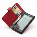 Peněženkové pouzdro na LG Optimus L7 P700 - červené - 6/7