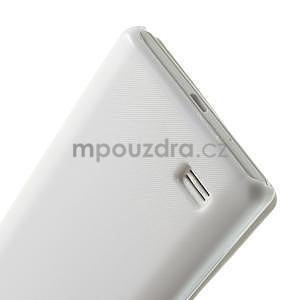 Flipové pouzdro pro LG Optimus L9 P760- bílé - 6