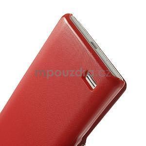 Flipové pouzdro pro LG Optimus L9 P760- červené - 6