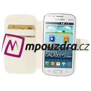 Peněženkové pouzdro na Samsung Trend plus, S duos - bílé - 6