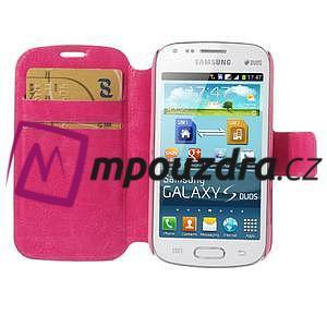 Peněženkové pouzdro na Samsung Trend plus, S duos - růžové - 6