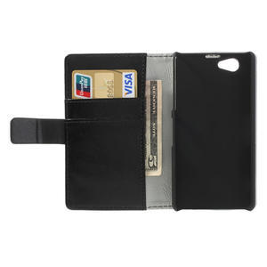 Peněženkové pouzdro na Sony Xperia Z1 Compact D5503- černé - 6