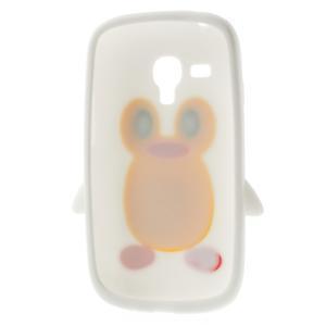 Silikonový TUČŃÁK pouzdro na Samsung Galaxy S3 mini i8190- bílý - 6