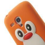 Silikonový TUČŃÁK pouzdro na Samsung Galaxy S3 mini i8190- oranžový - 6/7