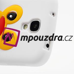 Silikonový Tučňák pouzdro pro Samsung Galaxy S4 i9500- bílý - 6