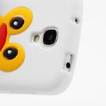 Silikonový Tučňák pouzdro pro Samsung Galaxy S4 i9500- bílý - 6/6