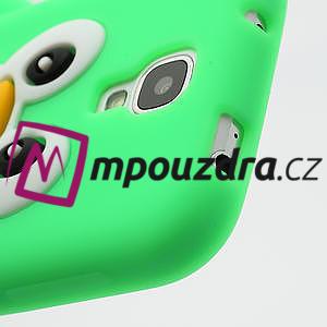 Silikonový Tučňák pouzdro pro Samsung Galaxy S4 i9500- zelený - 6