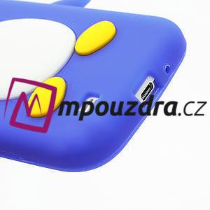 Silikonový Tučňák pouzdro pro Samsung Galaxy S4 i9500- modrý - 6