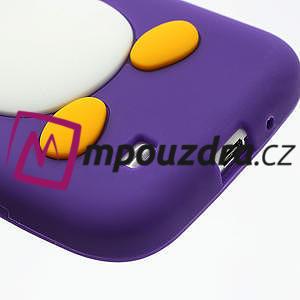 Silikonový Tučňák pouzdro pro Samsung Galaxy S4 i9500- fialový - 6