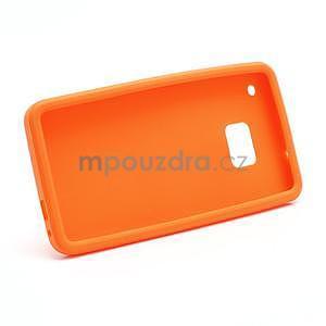 Silikonové pouzdro pro HTC one M7- oranžové - 6