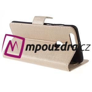 Clothy peněženkové pouzdro na mobil Honor 8 - zlaté - 6