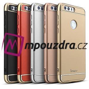 Luxusní odolný obal 3v1 na mobil Honor 8 - černý - 6