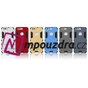 Outdoor odolný obal na mobil Honor 8 - šedomodrý - 6