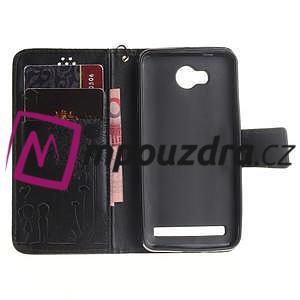Dandelion PU kožené pouzdro na mobil Huawei Y3 II - černé - 6