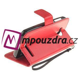 Dandelion PU kožené pouzdro na mobil Huawei Y3 II - červené - 6