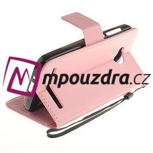 Dandelion PU kožené pouzdro na mobil Huawei Y3 II - růžové - 6
