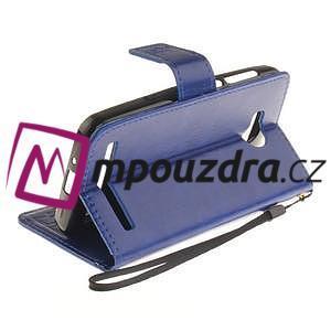 Dandelion PU kožené pouzdro na mobil Huawei Y3 II - modré - 6