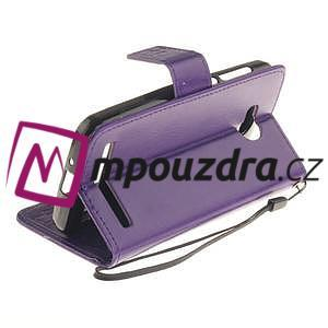 Dandelion PU kožené pouzdro na mobil Huawei Y3 II - fialové - 6