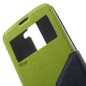 Diary PU kožené pouzdro s okýnkem na LG K8 - zelené - 6