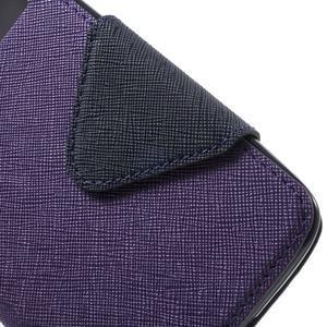 Diary PU kožené pouzdro s okýnkem na LG K8 - fialové - 6
