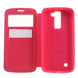 Richi PU kožené pouzdro na mobil LG K8 - rose - 6