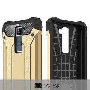 Armory odolný obal na mobil LG K8 - zlatý - 6