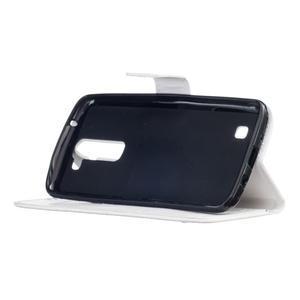 Dandelion PU kožené pouzdro na mobil LG K8 - bílé - 6