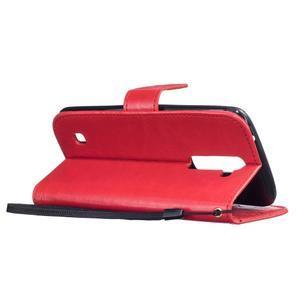 Dandelion PU kožené pouzdro na mobil LG K8 - červené - 6