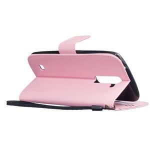Dandelion PU kožené pouzdro na mobil LG K8 - růžové - 6