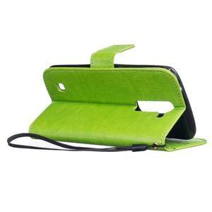Dandelion PU kožené pouzdro na mobil LG K8 - zelené - 6