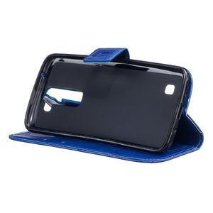 Dandelion PU kožené pouzdro na mobil LG K8 - modré - 6