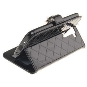 Luxusní PU kožené pouzdro s přezkou na LG K8 - černé - 6