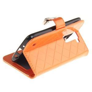 Luxusní PU kožené pouzdro s přezkou na LG K8 - oranžové - 6