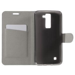 Horse PU kožené pouzdro na mobil LG K8 - rose - 6