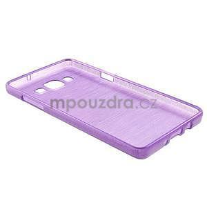 Broušený gelový obal Samsung Galaxy A5 - fialový - 6