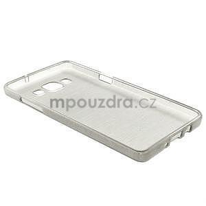 Broušený gelový obal Samsung Galaxy A5 - šedý - 6