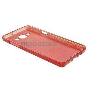 Broušený gelový obal Samsung Galaxy A5 - červený - 6