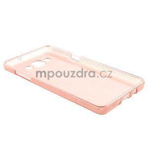 Broušený gelový obal Samsung Galaxy A5 - růžový - 6