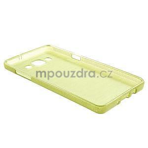Broušený gelový obal Samsung Galaxy A5 - zelený - 6