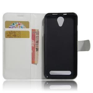 Wallet PU kožené klopové pouzdro na Acer Liquid Z6 - bílé - 6