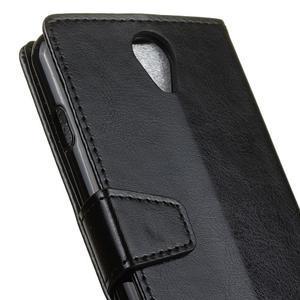 Crazy PU kožené pouzdro na mobil Acer Liquid Z6 - černé - 6