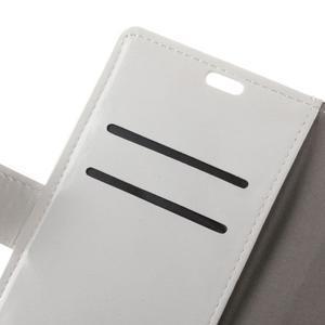 Lethy PU kožené pouzdro na mobil Acer Liquid Z6 - bílé - 6