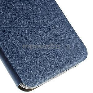 Modré klopové pouzdro s okýnkem na Asus Zenfone 2 ZE551ML - 6