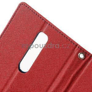 Zapínací PU kožené pouzdro na Asus Zenfone 2 ZE551ML - červené - 6