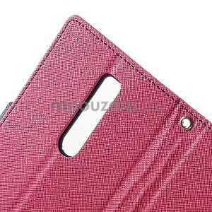 Zapínací PU kožené pouzdro na Asus Zenfone 2 ZE551ML - rose - 6