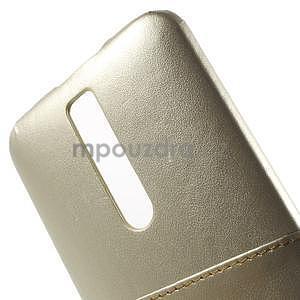 Champagne PU kožený/plastový kryt na Asus Zenfone 2 ZE551ML - 6